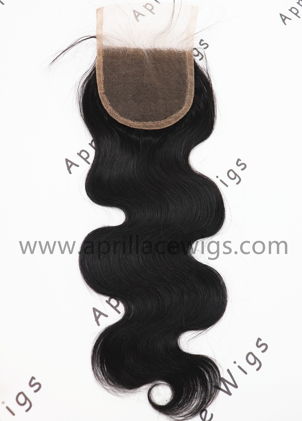 100% virgin human hair body wave lace closure