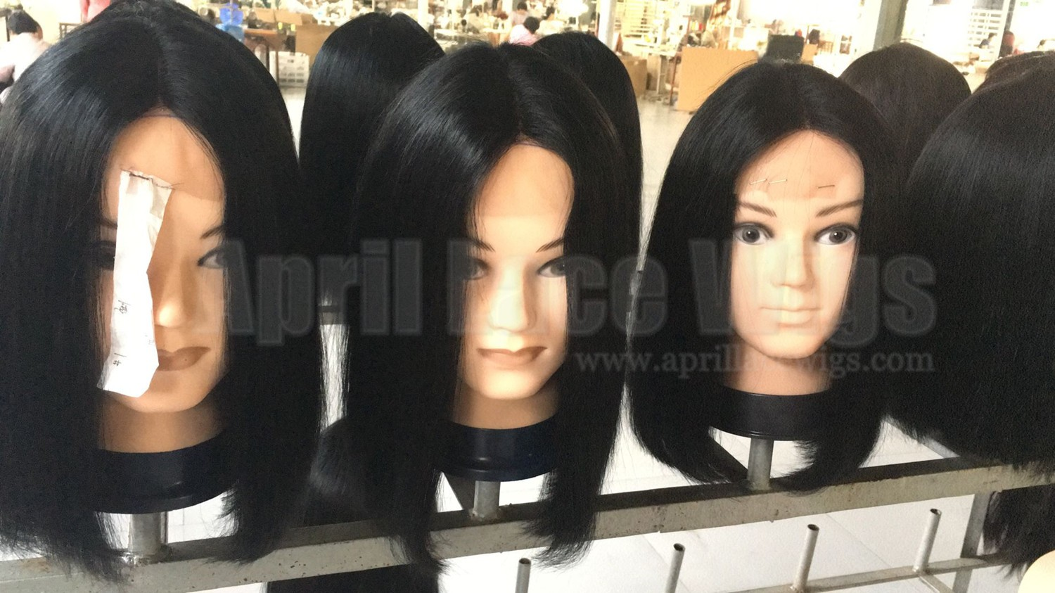 Indian remy blunt cut bob wig with middle parting for summer