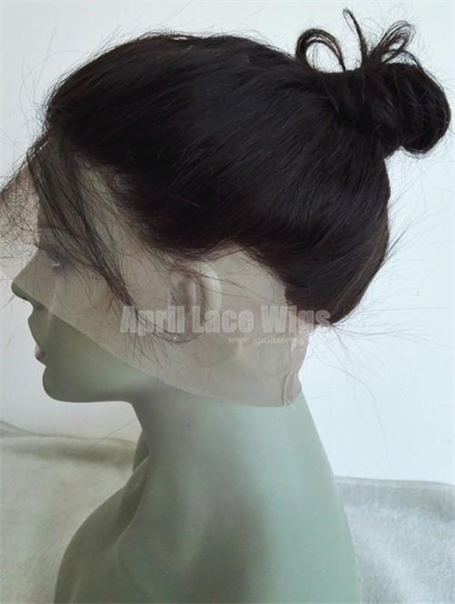 360 Lace Frontal Natural Wave Brazilian Virgin bun