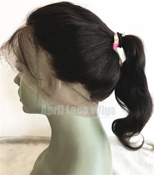 360 Lace Frontal Body Wave Brazilian Virgin ponytail