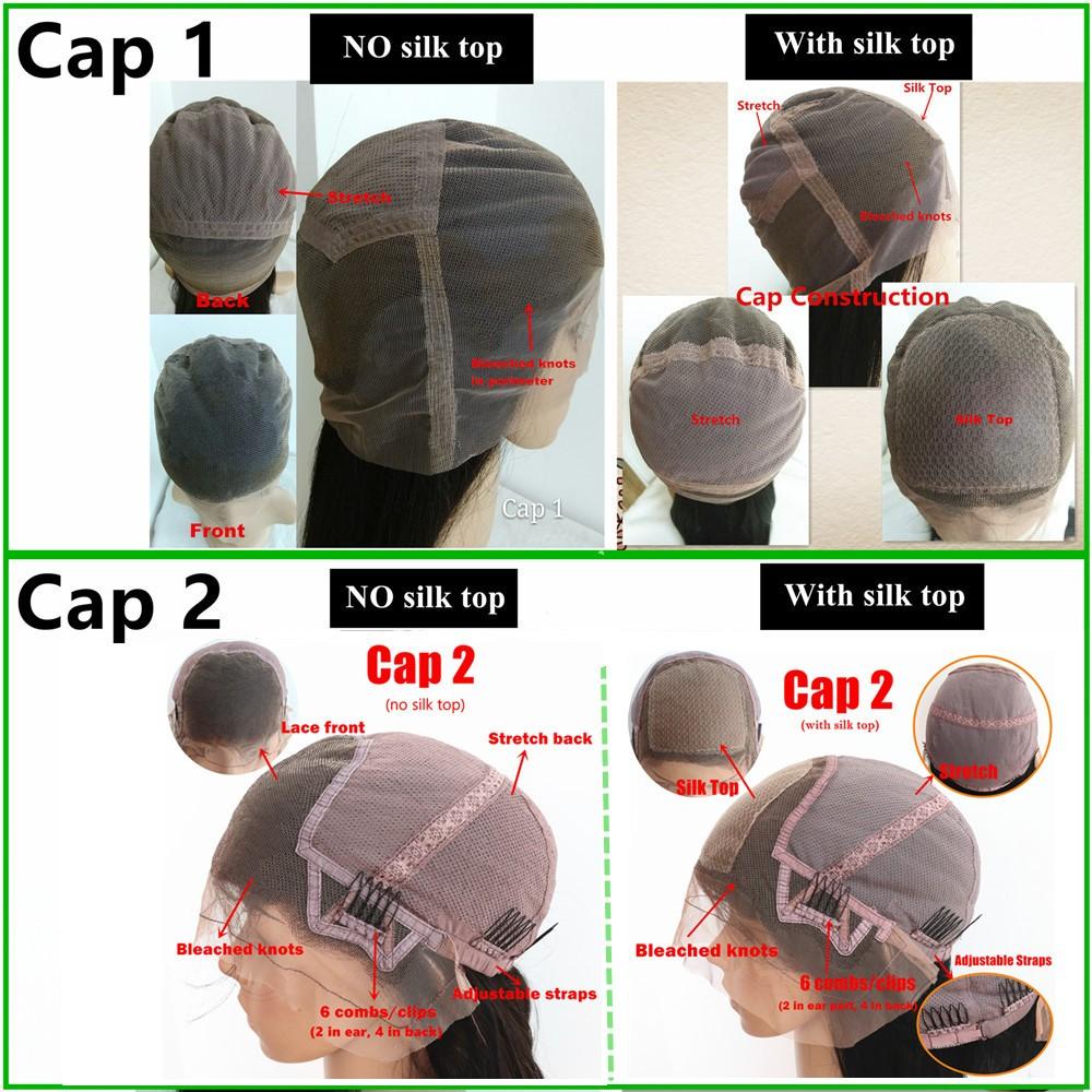 full lace cap construction silk top wigs
