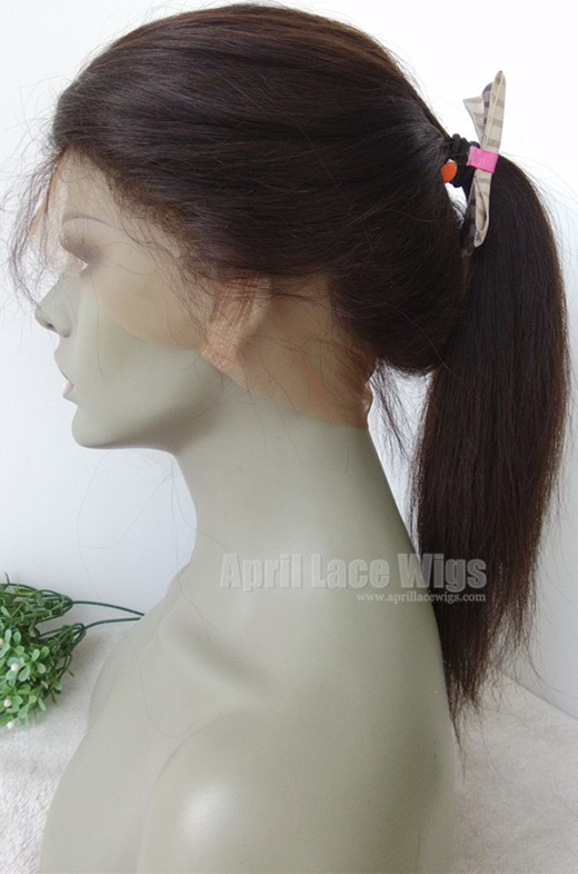 Brazilian straight 360 frontal ponytail