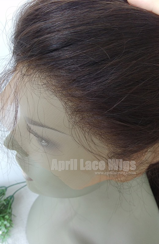 Brazilian straight 360 frontal