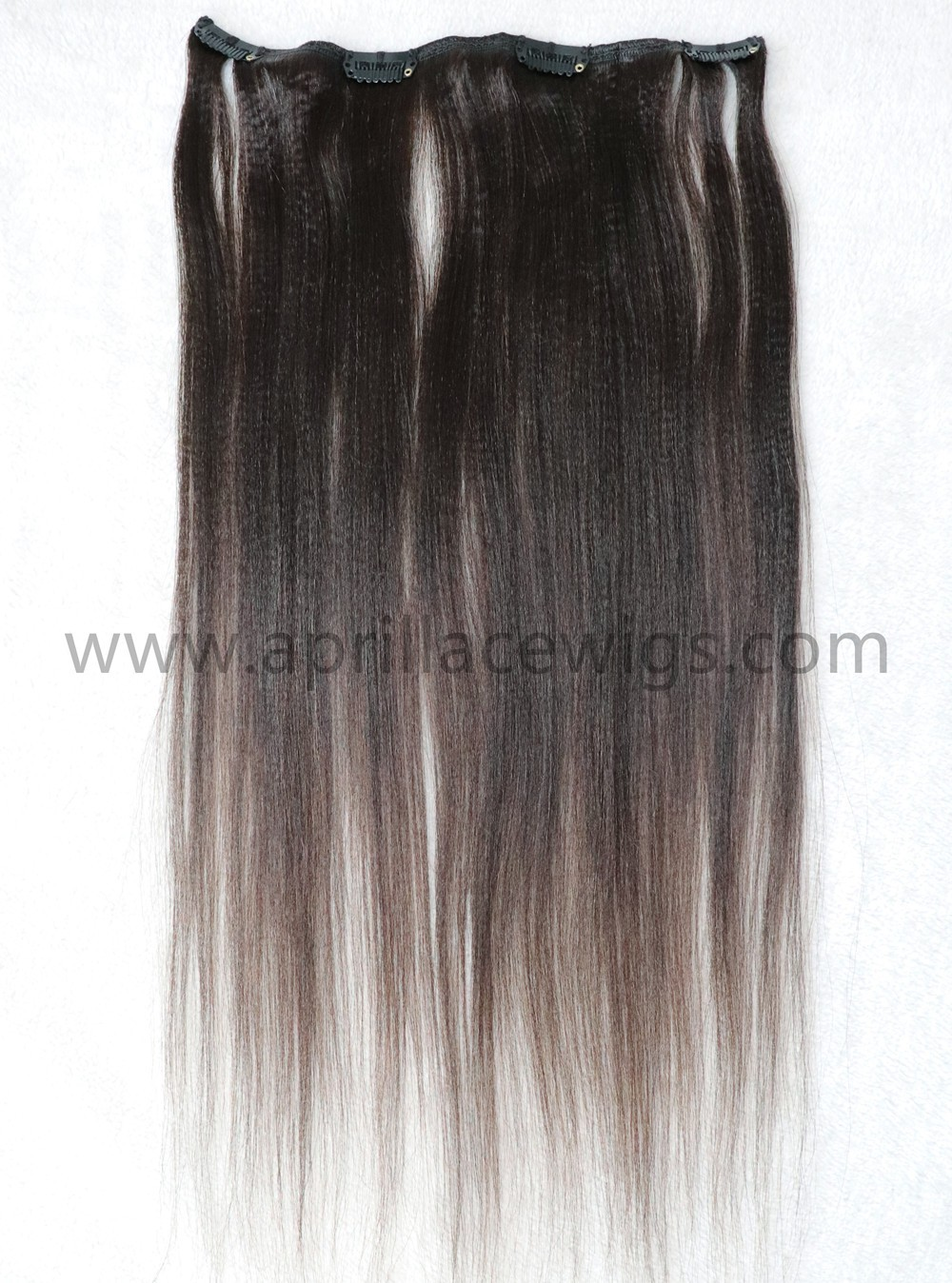 clip in extensions, light yaki hair, yaki clip-ins extension