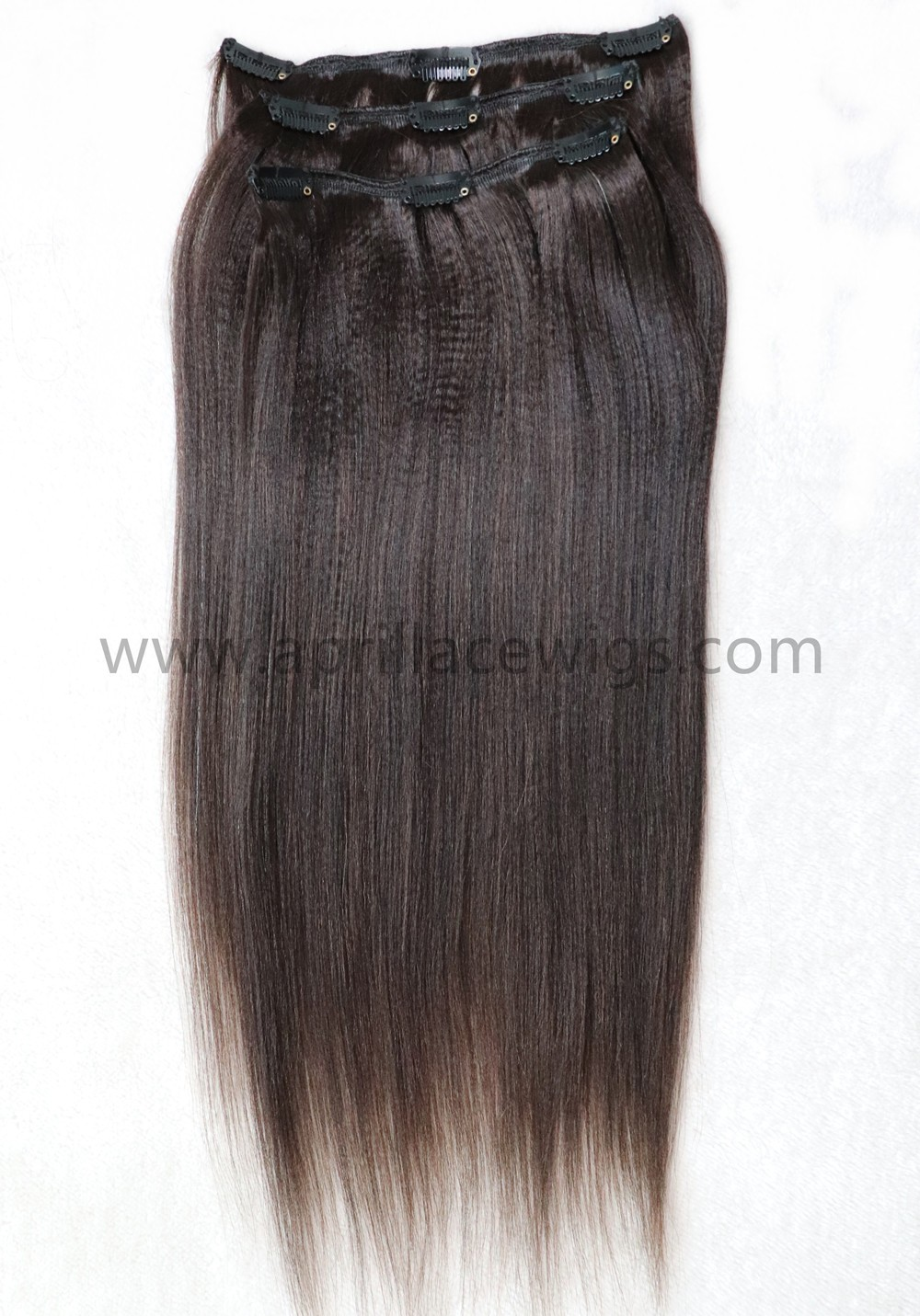 clip in extensions, light yaki hair, yaki cilp-ins extension
