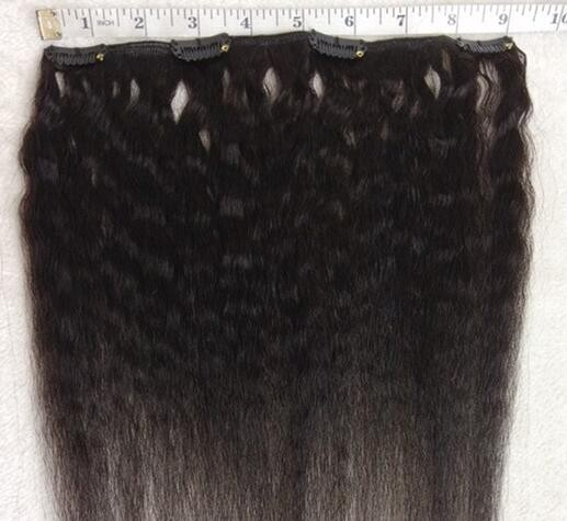 Human hair clips in extensions, italian yaki clips extensions