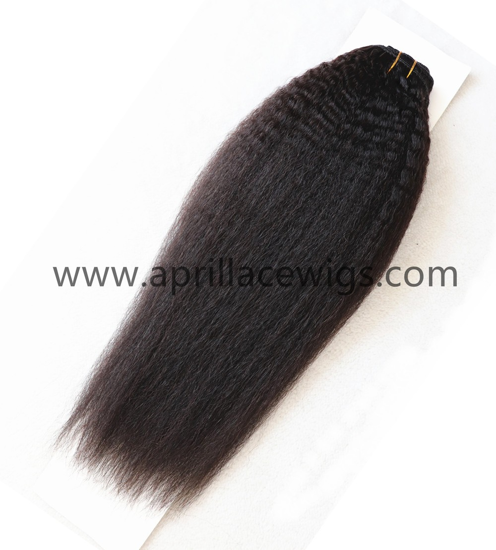 italian yaki clipins extension, clipins bundles, clipin weft