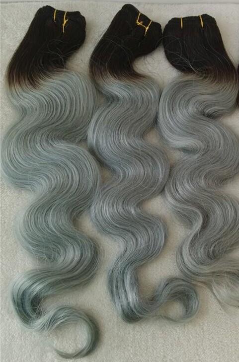 1b grey color wefts