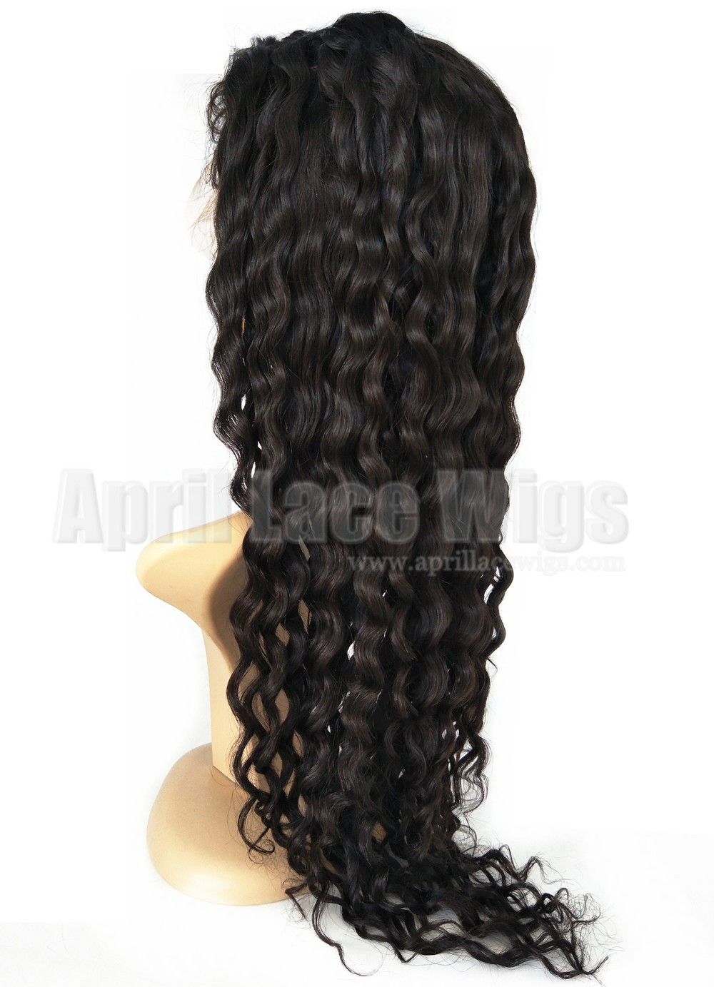 Chinese virgin Curly silk top full lace wig