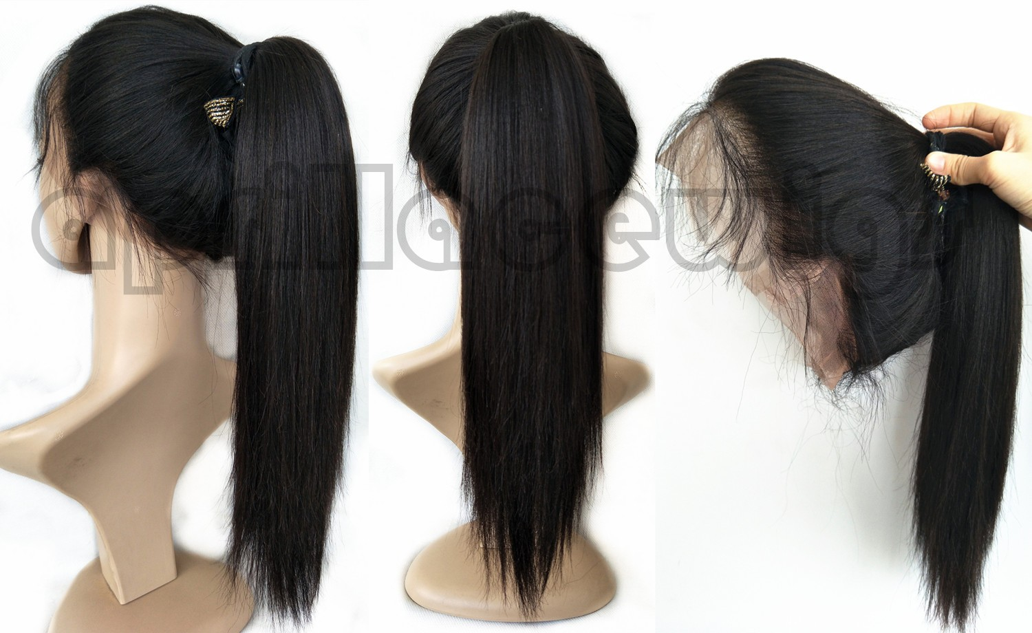 Chinese virgin light yaki 360 frontal wig