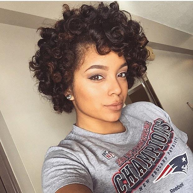 short curly human hair wig
