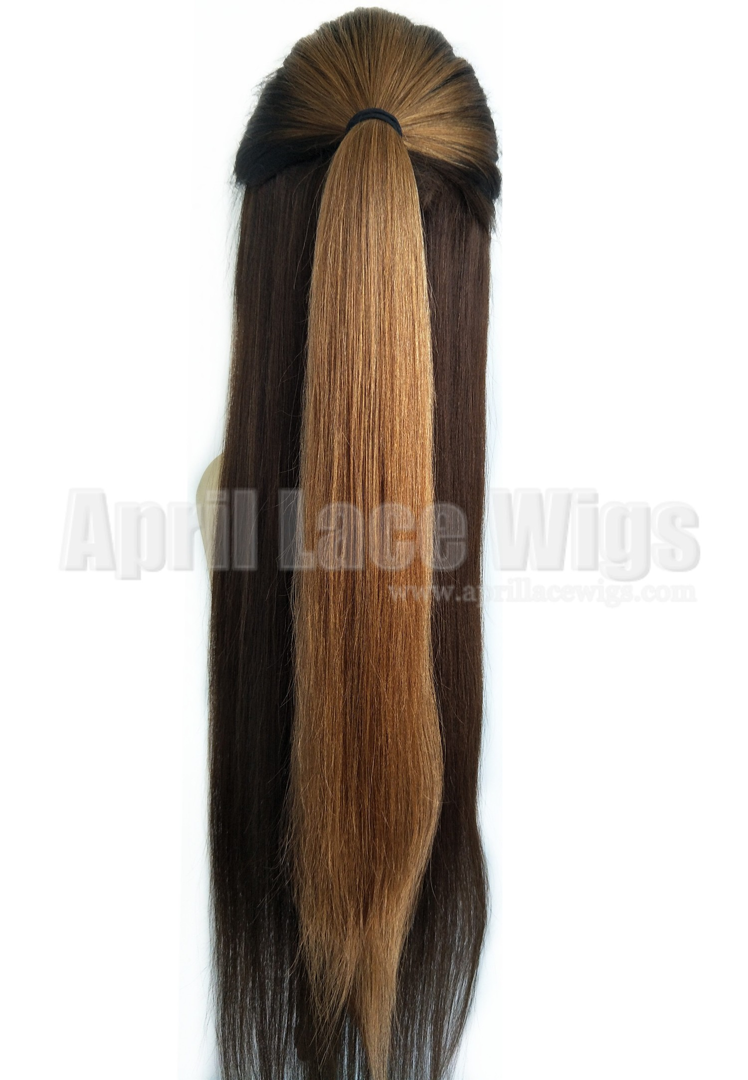 Virgin hair three-tones ombre color silk top human hair wig with baby hair