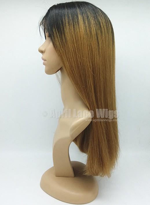 ombre color blunt cut bob hair