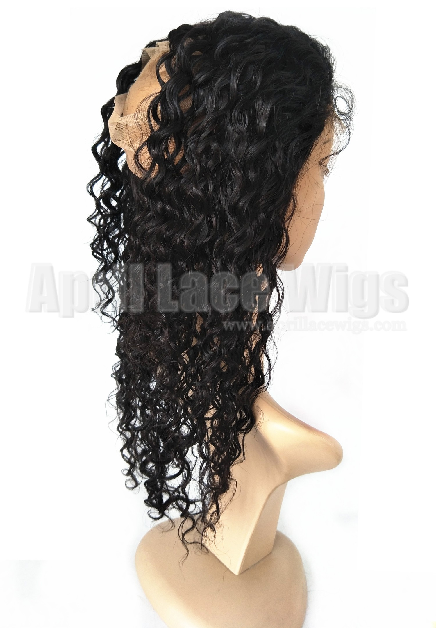 360 frontal wet wave brazilian virgin hair natural color