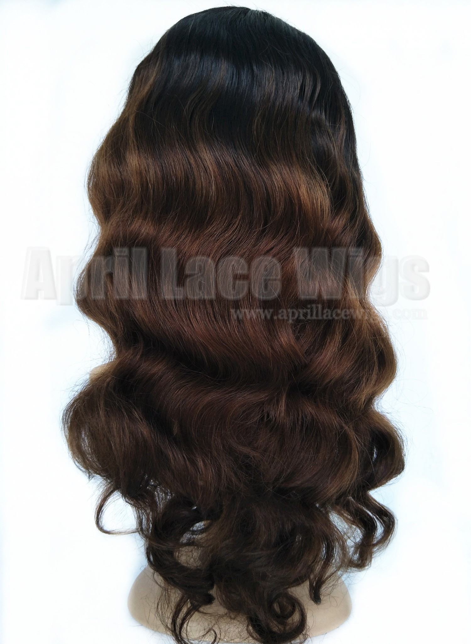 virgin hair Ombre Color glueless full lace wig with 2x4 silk top wig
