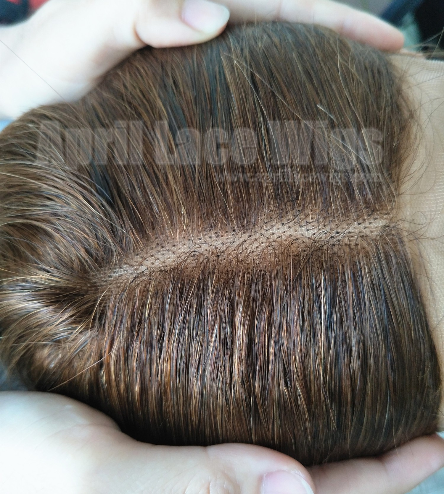brown hair lace frontal with bleached knots baby hairs