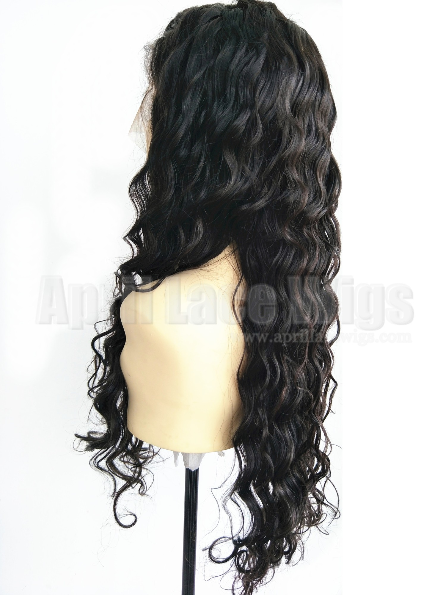 Malaysian virgin human hair loose deep wave 360 frontal wig
