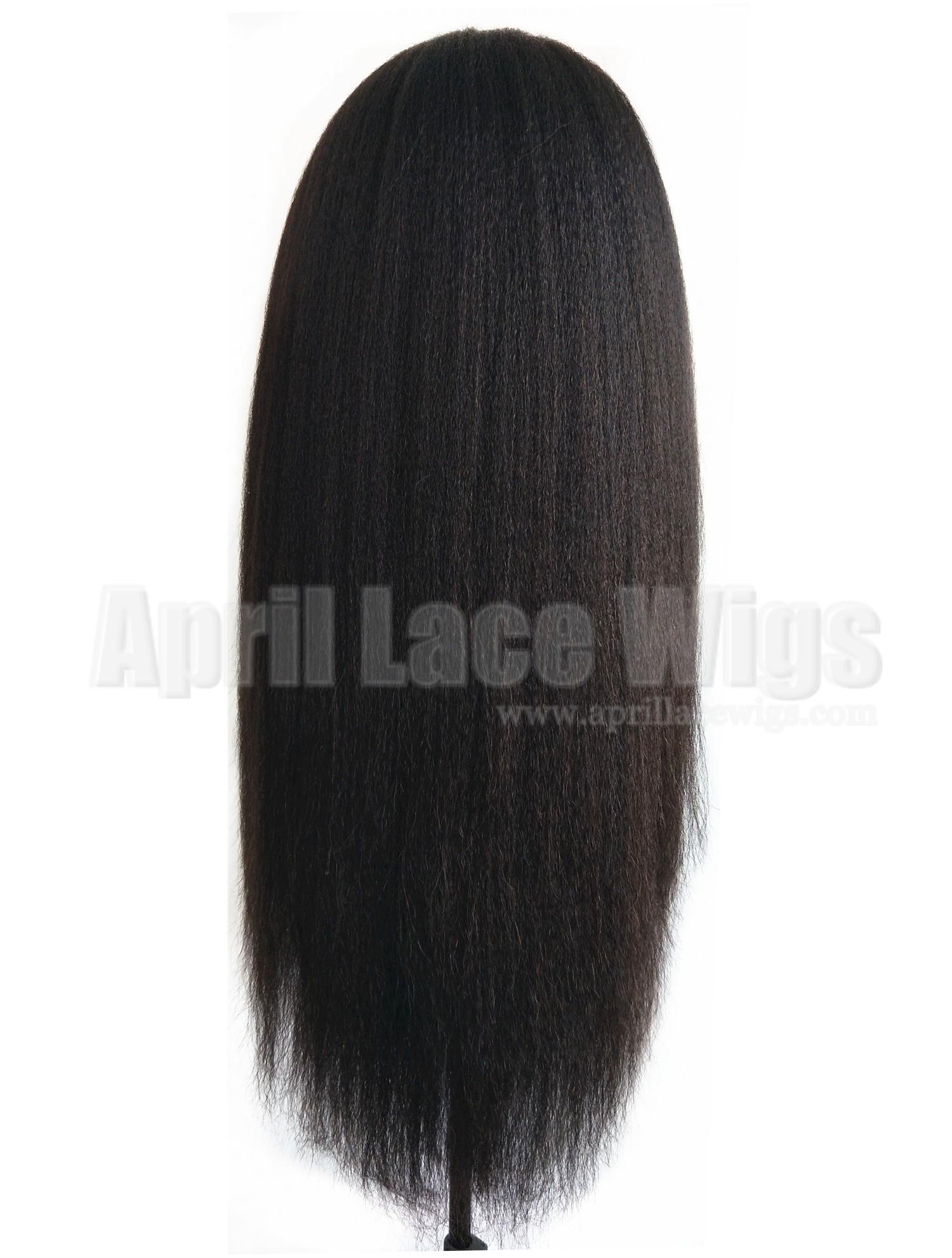 150% density italian yaki glueless full lace cap with silk top on sale