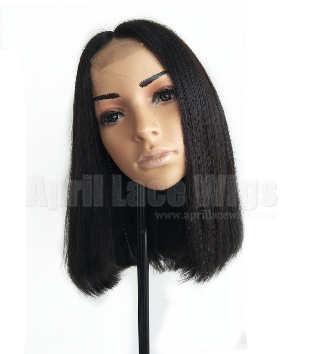 Blunt cut bob closure wig