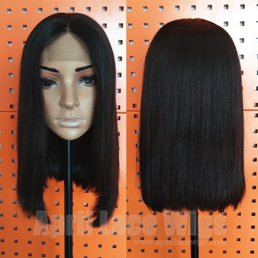 Blunt cut bob lace wig