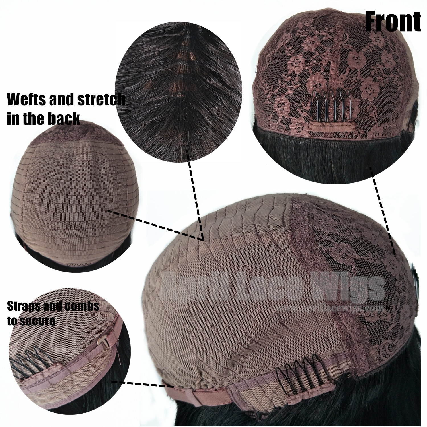 machine made wig cap contruction