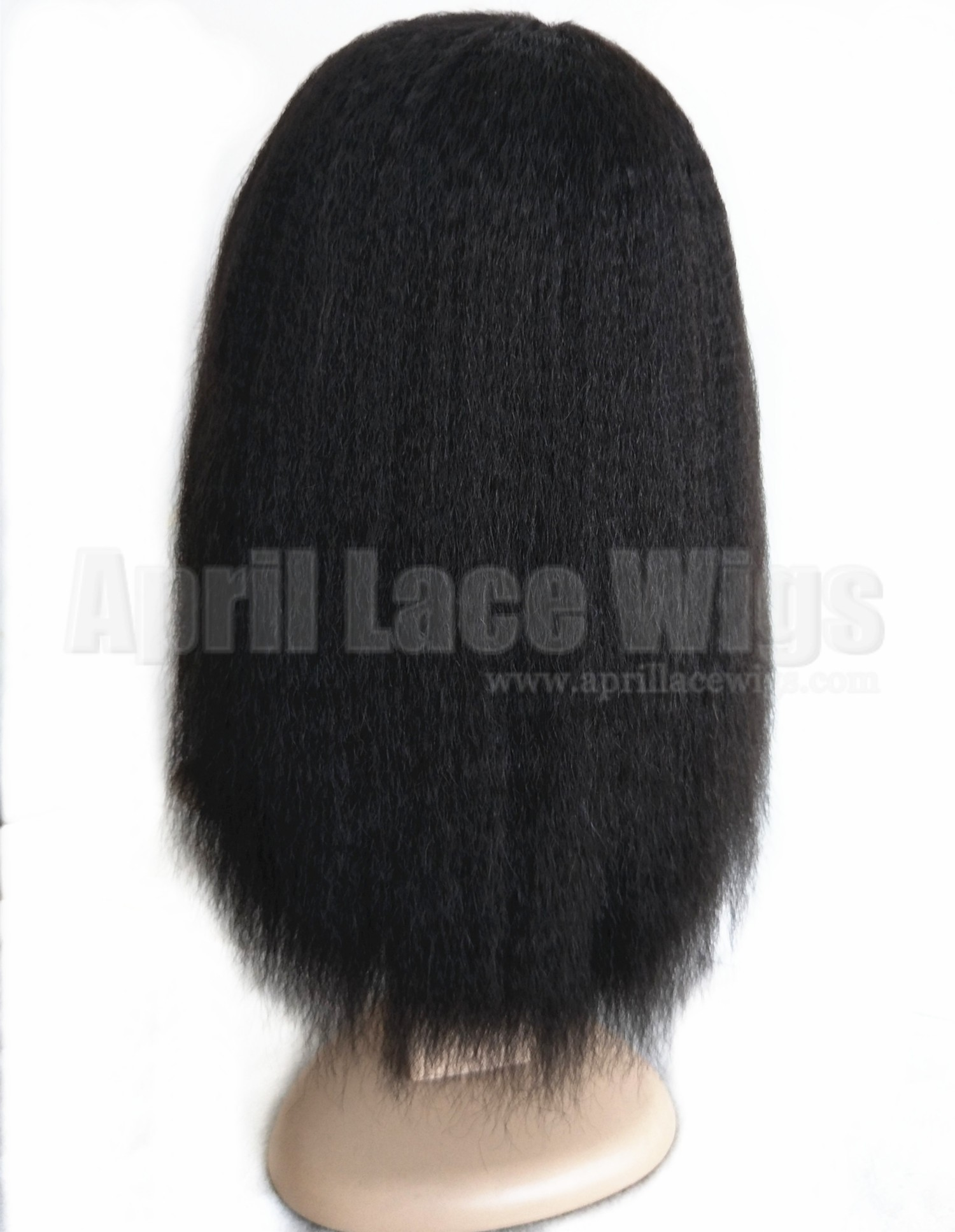 Italian yaki human hair machine made wig no lace with bangs