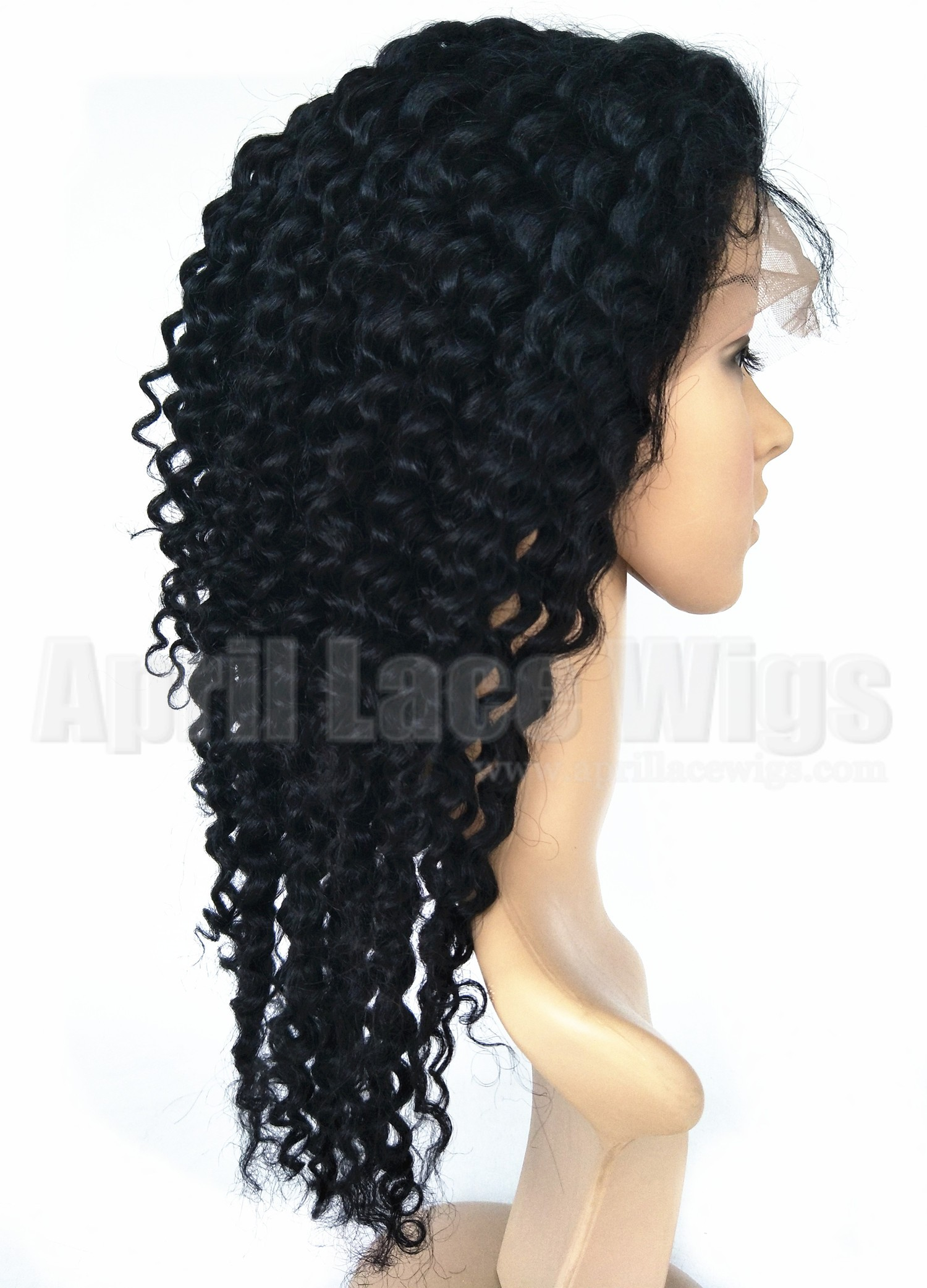 deep wave full lace wig with silk top baby hairs on sale