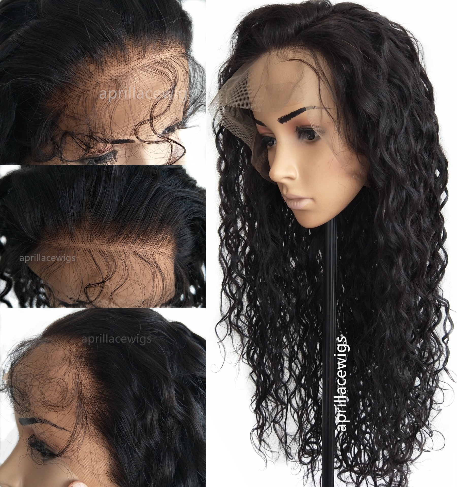 Malaysian virgin wavy glueless 360 wig