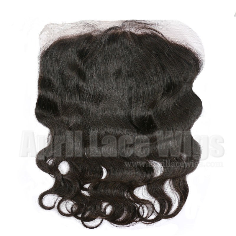 Brazilian virgin body wave 13*6 lace frontal pre-plucked hairline