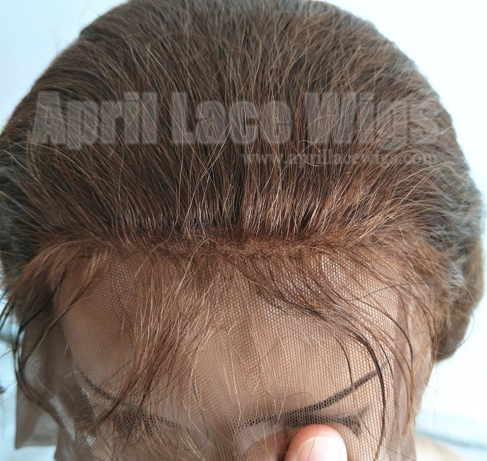 color 4 Body wave glueless lace front wig with silk top baby hair