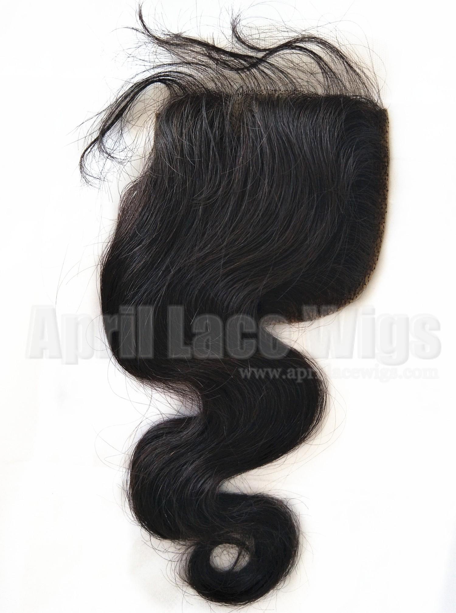 Burmese virgin body wave silk top closure