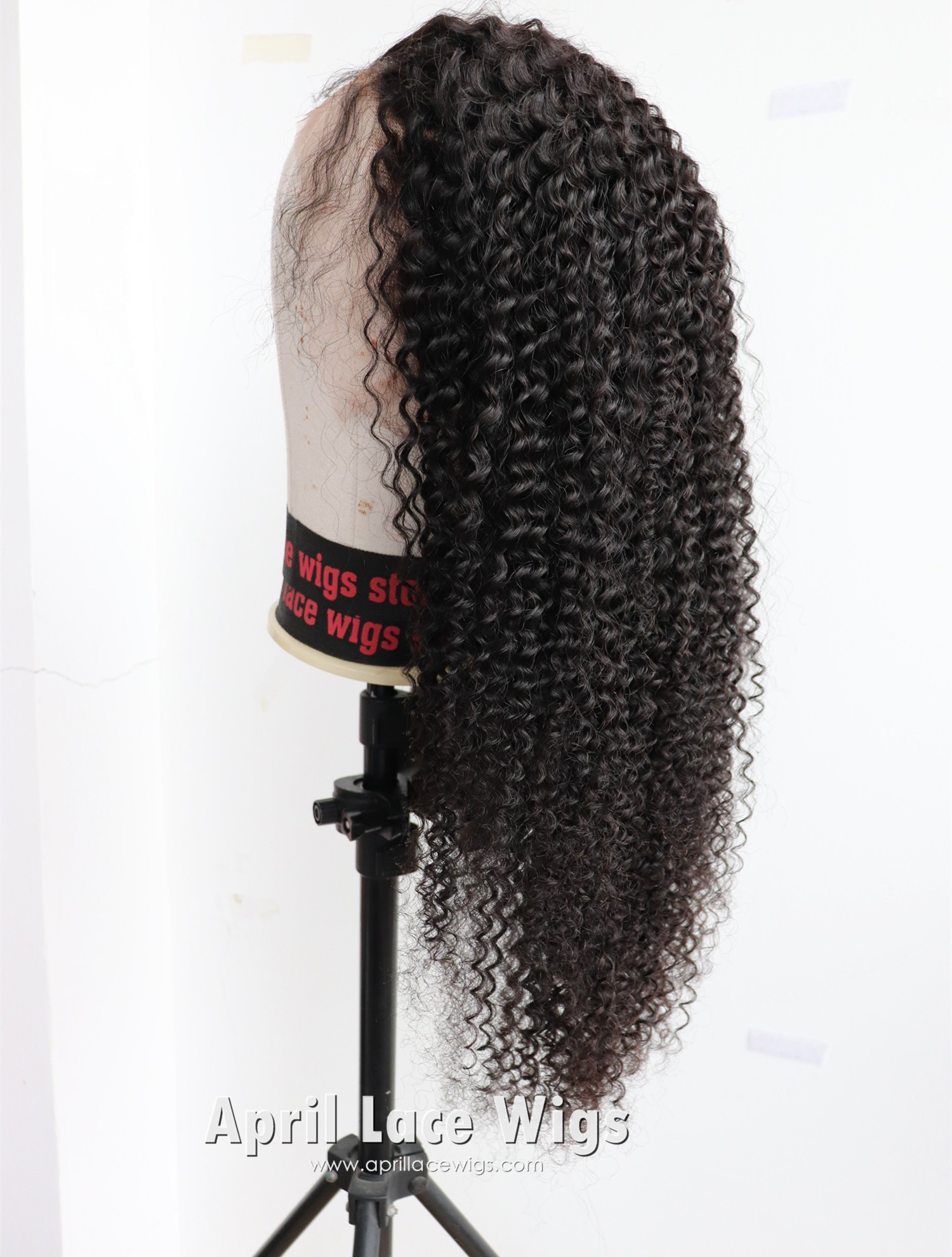 kinky curly glueless lace wig virgin human hair