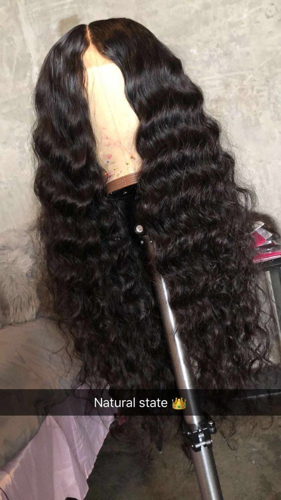 natural wave glueless 360 wig