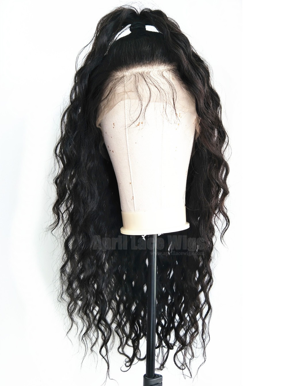 loose deep curly glueless 360 wig with preplucked hairline