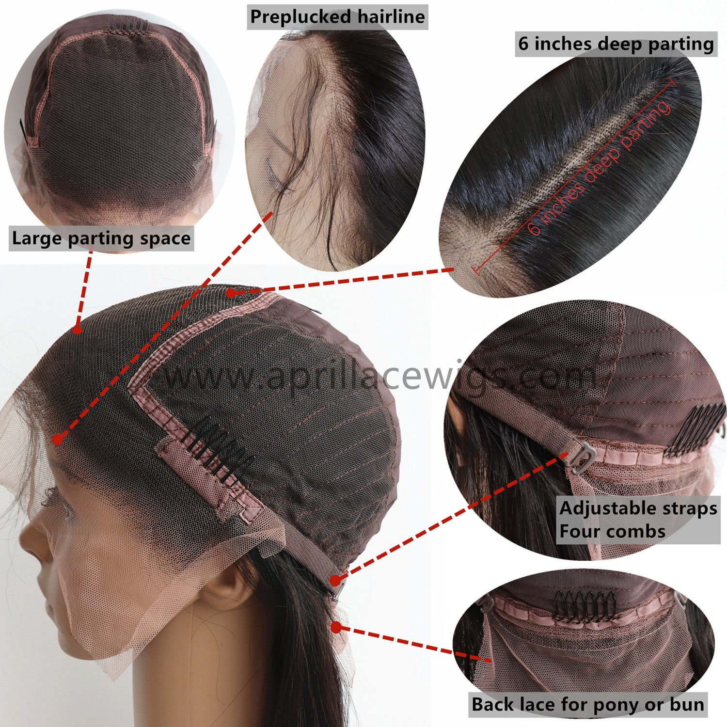 lace front wig cap construction