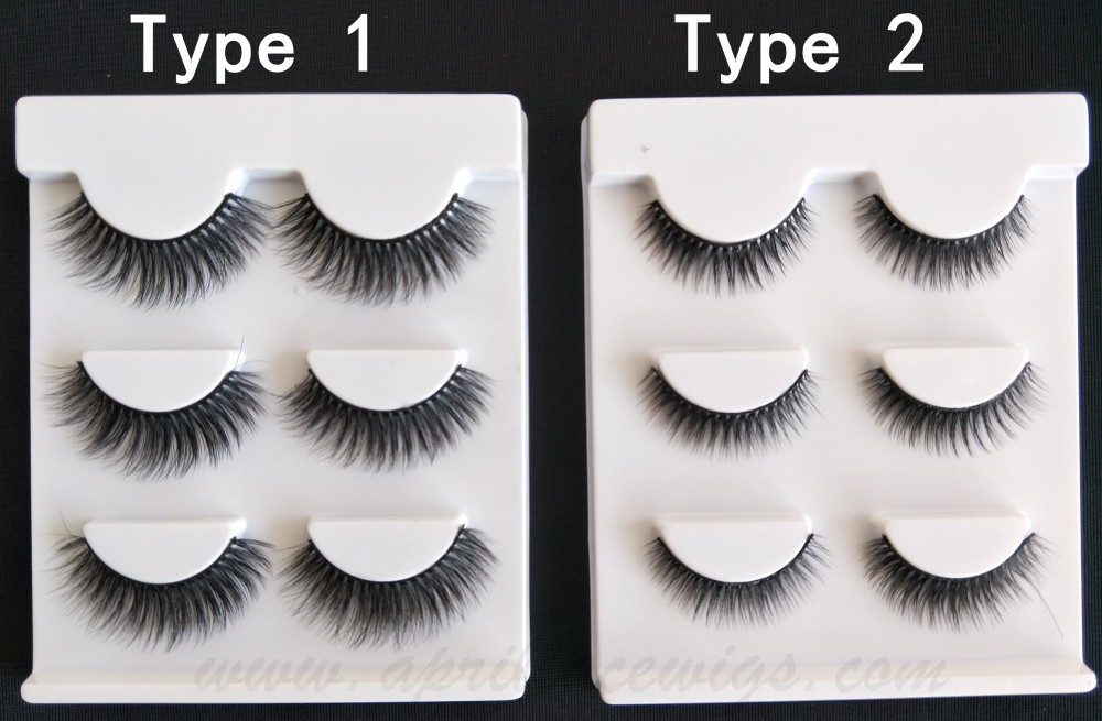 3D black natural professional makeup fashion eyelashes 3 Pairs Set