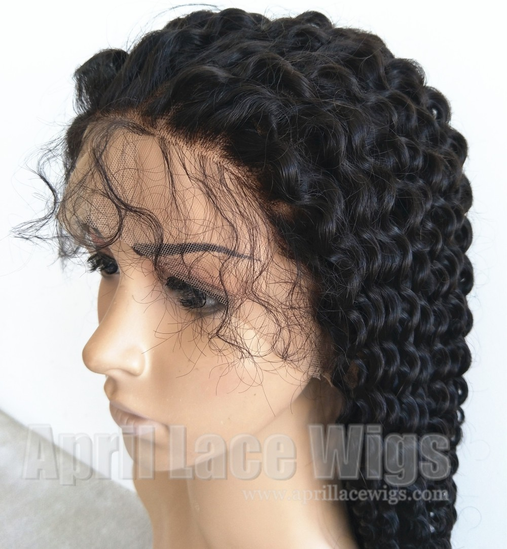 Malaysian Virgin Spanish Curl Full Lace Wig bleached knots baby hairs