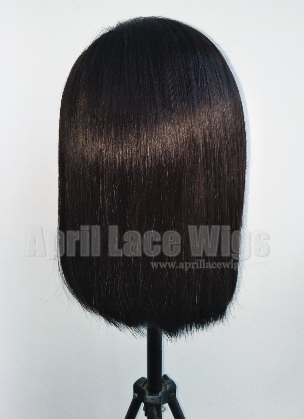 bob hair glueless 360 wig left parting, preplucked hairline