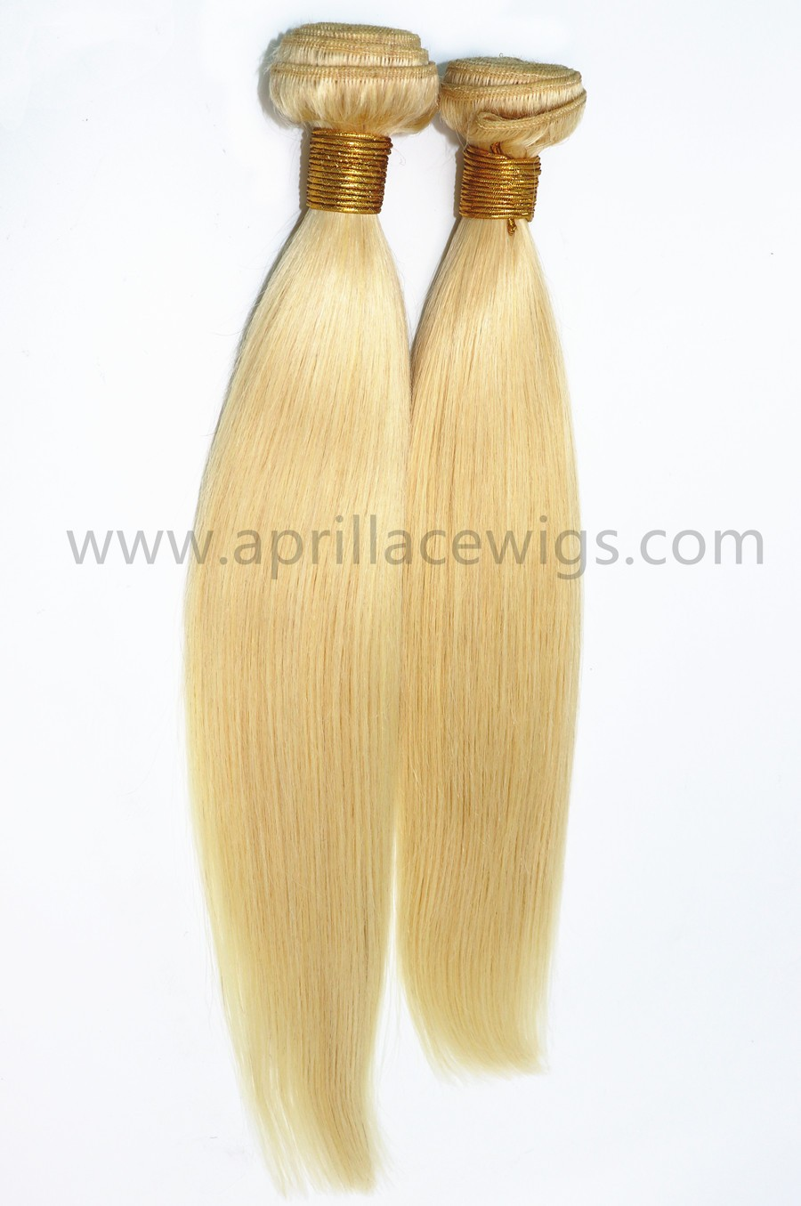 2 bundles color 613 blonde virgin human hair wefts
