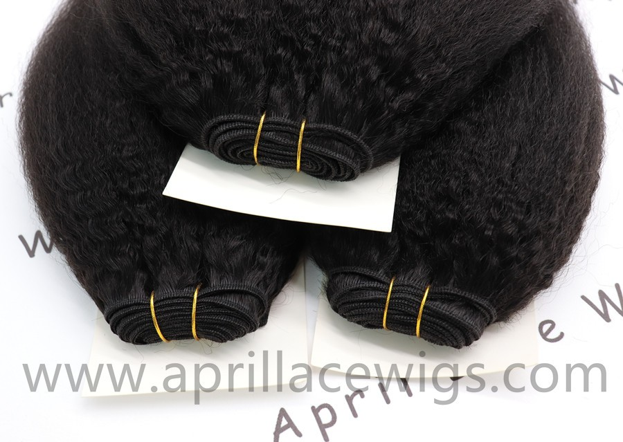 Italian yaki indian remy human hair 3 wefts and 1 lace frontal