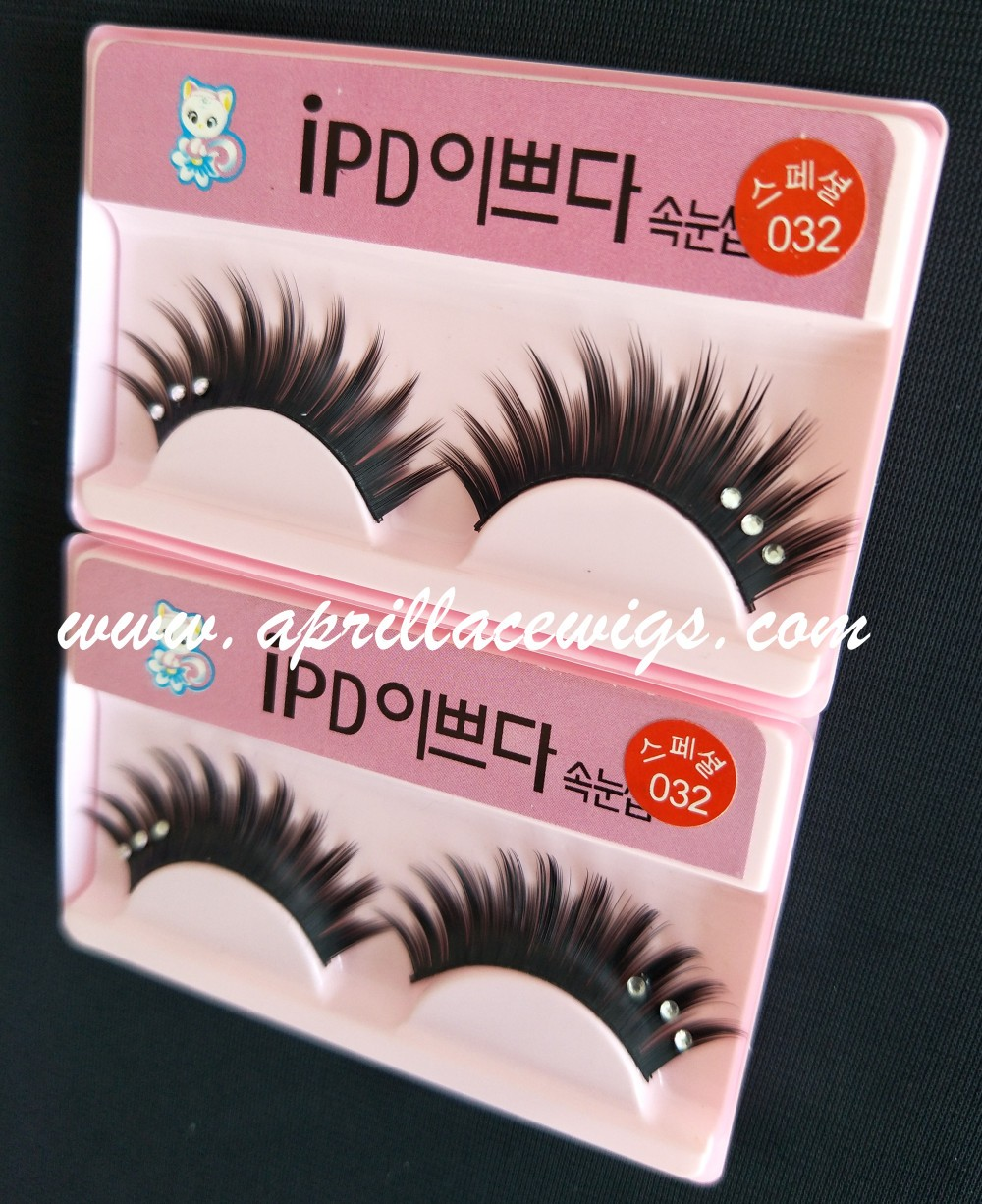 Thick Mink false eyelashes with rhinestone for party or cosplay