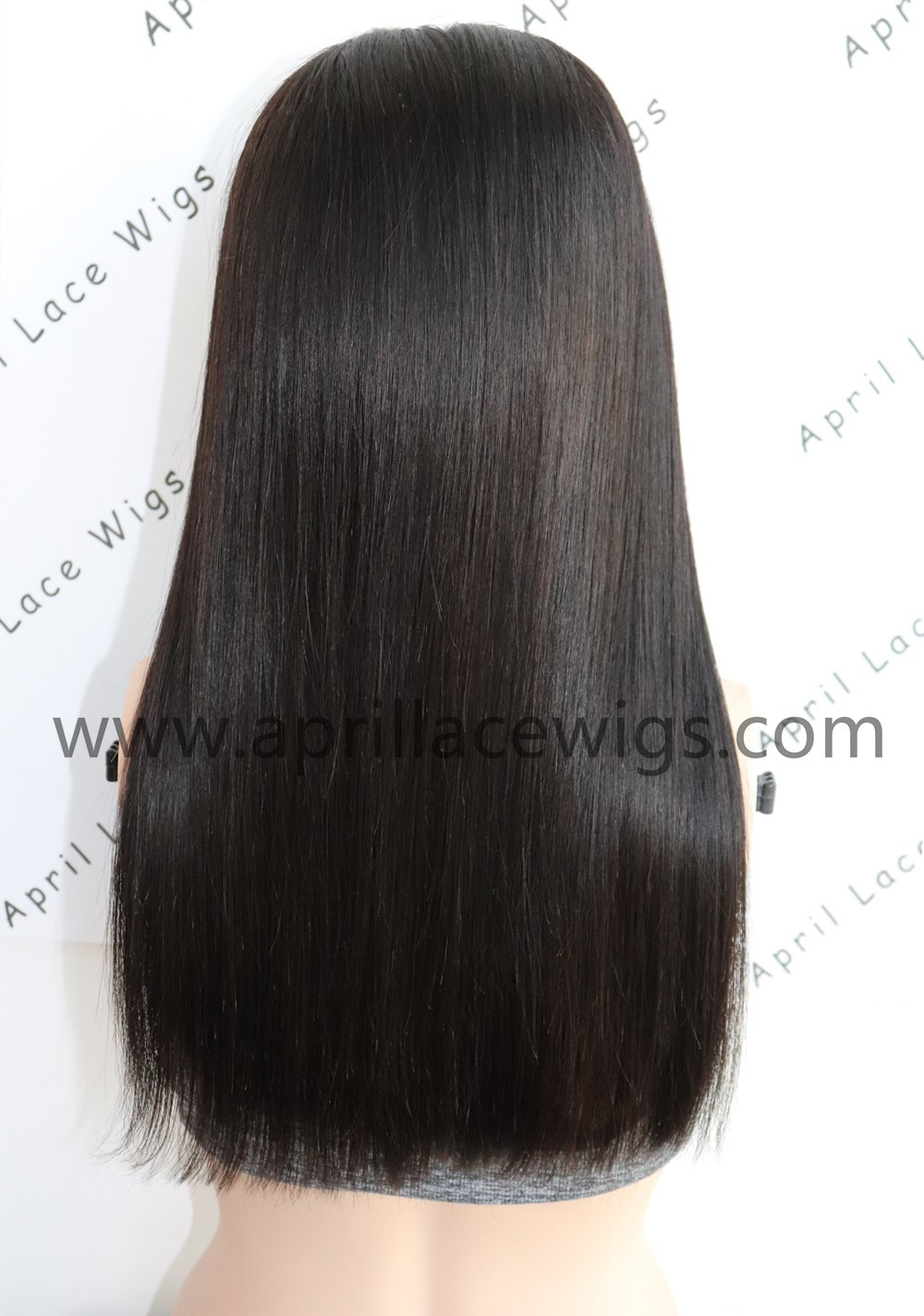 silk straight long blunt cut glueless 360 wig with preplucked hairline