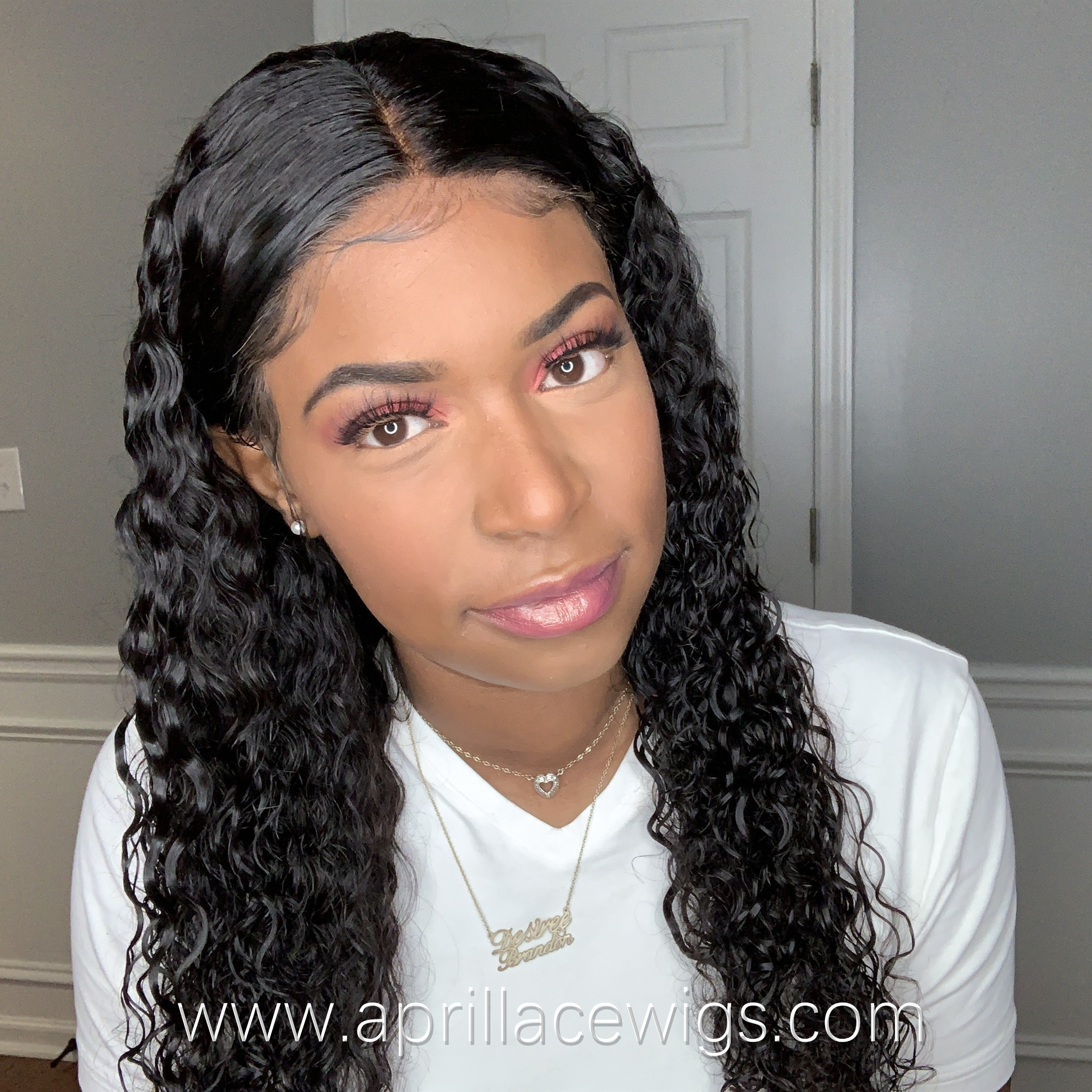 deep curly lace front wig preplucked hairine 150% density