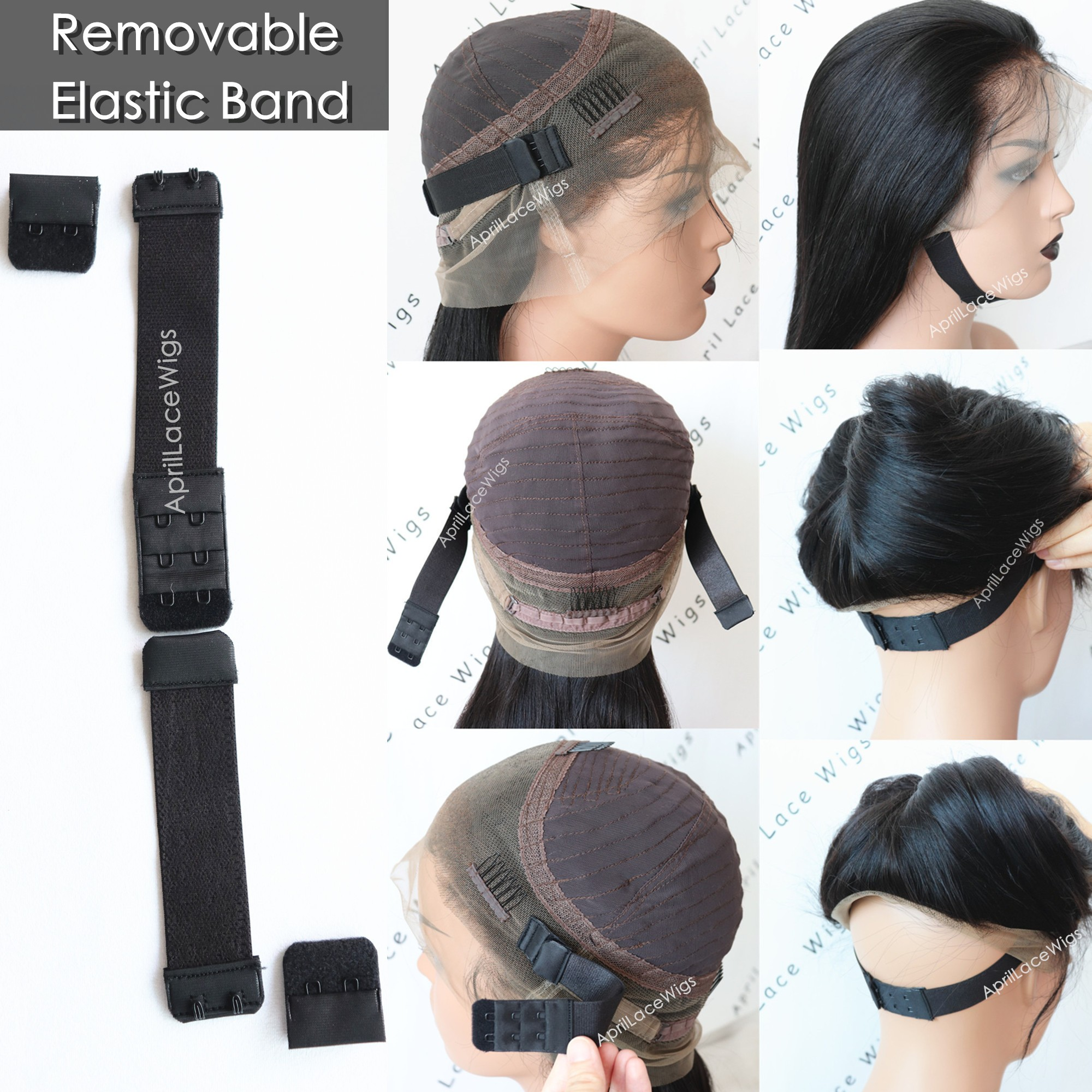 Adjustable Removable Extra Elastic Band For Lace Wigs Glueless Wig Installation