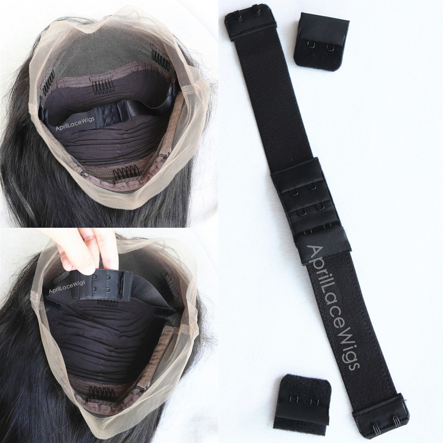 adjustable removable band for glueless wig installation