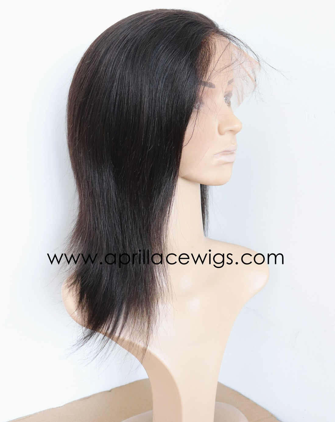 Brazilian virgin natural straight glueless full lace wig with silk top