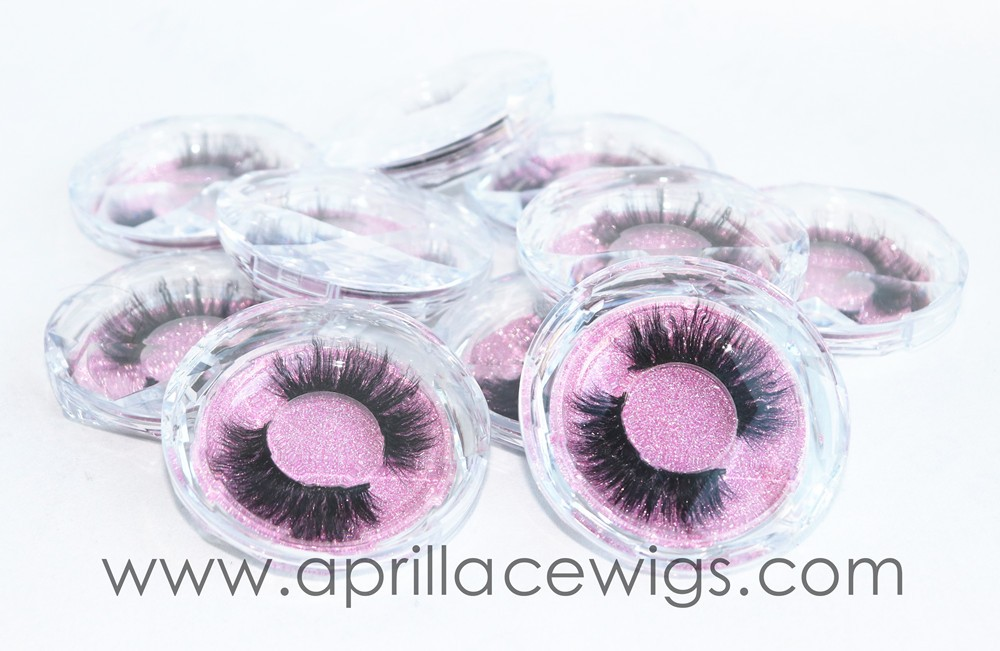 Wholesale sparkling custom box handmade 3D Mink Eyelashes long thick makeup curly
