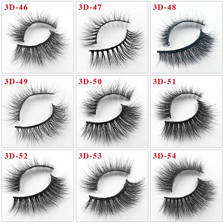 custom box handmade 3D Mink Eyelashes 76 styles