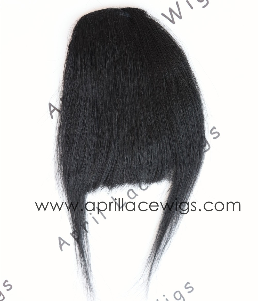 Virgin hair straight texture Chinese bangs