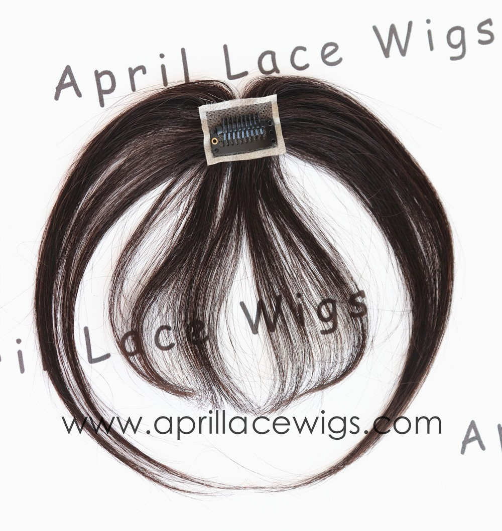 Virgin hair straight texture See-through bangs